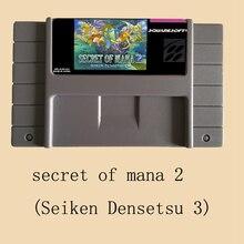 Secret of mana 2 (Seiken Densetsu 3)  16 bit 46 Pin Big Gray Super Game Card