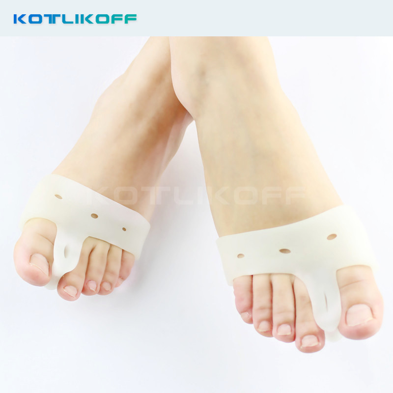 KOTLIKOFF 2 Pair Gel Bunion Hallux Valgus Orthopedic Toe Separator Metatarsal Cushion Forefoot Pad Foot Care Insoles solomeya разделители для пальцев розовые пара toe separator