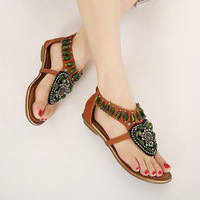 Catching Women Summer Shoes 2017 Hot Breathable Bohemia Sandals Women Fashion String Bead Women Student Shoes