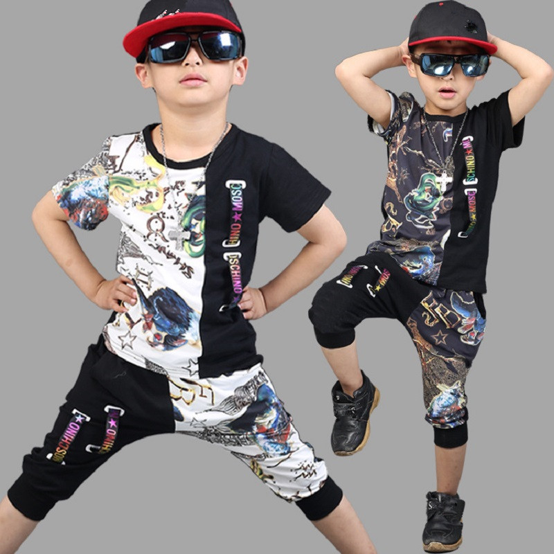 Baby Boy Clothes Summer Suits 4-12 Year Children Boys Clothing sets 2018 New Kids Sports Suit Fashion Cotton boys Outfits