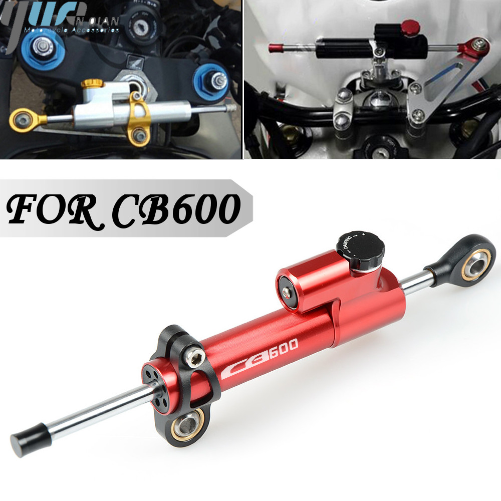 For HONDA CB600 CB 600 CB600 HORNET CB600F Universal Motorcycle CNC Aluminum Steering Dampers Stabilizer Safety Control-in Covers & Ornamental Mouldings from Automobiles & Motorcycles