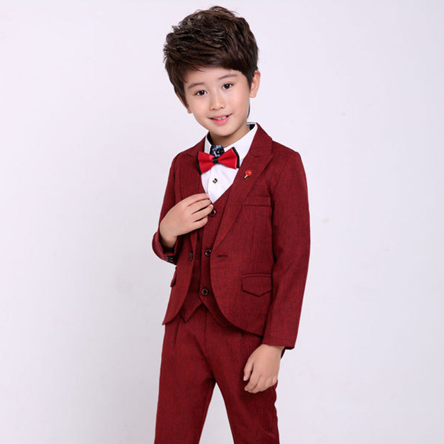 Boys Cocktail Dress Kids 3 Piece Clothing set Boys Wedding Tuxedo ...