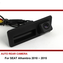 For SEAT Alhambra 2010 - 2015 HD CCD Trunk Handle OEM Car Rearview Parking Reverse Backup Rear View Camera Night Vision