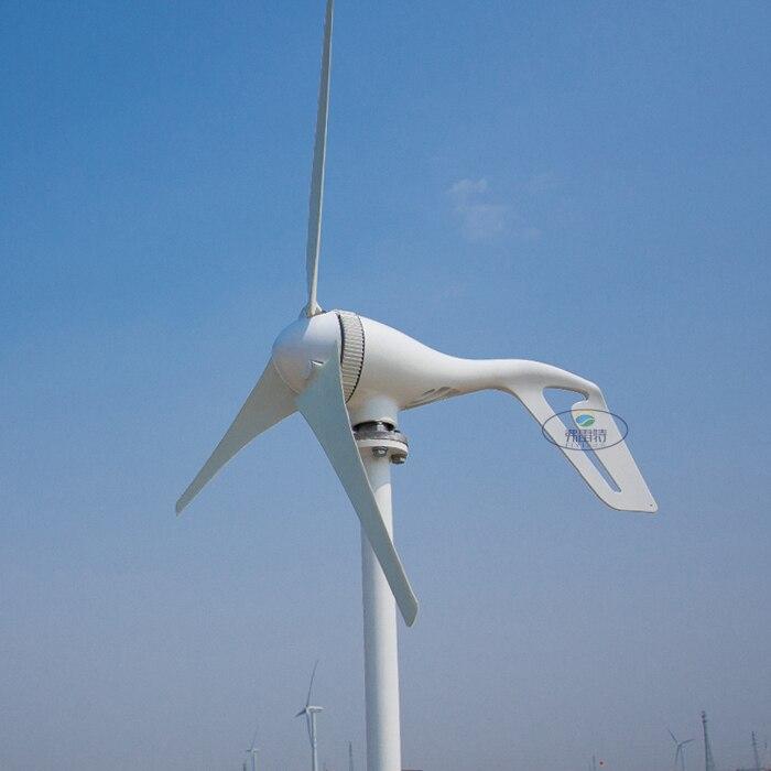 Générateur de vent 300 w 12 v 24 v AC avec contrôleur de Charge MPPT 3 ou 5 lames pour l'éclairage de jardin de réverbère ou l'efficacité d'utilisation à la maison