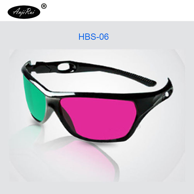 Hot newest figh quality black frame red green 3D Glasses For Dimensional Anaglyph Movie Game DVD Video TV 3D glasses image