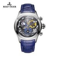 Риф Тигр новый дизайнер лучших брендов роскошные модные часы для Для женщин Сталь Часы с костями синий ремешок спортивные часы RGA7181