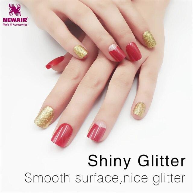 Glitter Gel Polish Short False Nails With Designs Full Cover