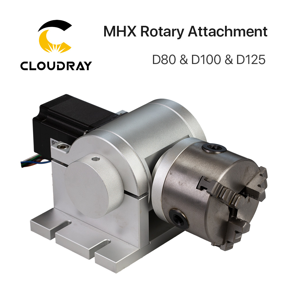 Rotary Engraving Attachment With Chucks Max Dia. 80 100 125mm For Laser Marking Machine