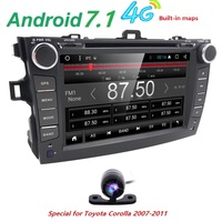 4G android 7.1 car dvd player For Toyota corolla 2007 2008 2009 2010 2011 in dash 2 din 1024*600 car radio gps video head unit