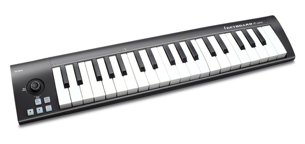 ICON iclavier 4 mini 37 touches sensibles à la vitesse touches de style piano contrôleur USB MIDI clavier prend en charge le logiciel DAW-in Microphones from Electronique    2