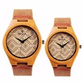 Fashion Popular Bamboo Lovers Watches Women Men Luxury Bamboo Wood Watch Japan Quartz Genuine Leather Wristwatch REDEAR Relojes
