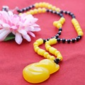 Prevalent Yellow beads Necklace Accessories Neck Sweater chain Dress Adornment Costume Accessories bling Pendant Jewelry