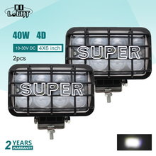 CO LIGHT 1 Pair Led Light Beam Offroad 40W 4D Led Work Light 12V Spot 4X4 Accessories for Tractor Lada Niva Uaz Motorcycle SUV