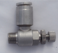 tube size 8mm 3/8 BSPT thread stainless steel 316 precision control speed controller air speed valve pneumatic fitting