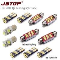 JSTOP 11piece/set For 2014 Q7 car led reading light 12V festoon c5w 36mm 41mm bulbs led canbus Trunk light T10 W5W reading lamp