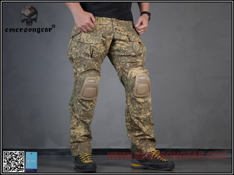 Emersongear Combat Pants With Knee Pads Military  Airsoft Tactical Gear Military Camouflage Wearproof Trousers Badland EM7041 emersongear g3 combat pants with knee pads military bdu army airsoft emerson gear paintball hunting trousers em7046 mandrake