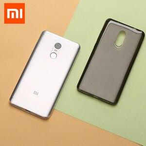 Image 1 - Ursprüngliche Xiaomi Redmi Hinweis 4x Fall 5,5 zoll luxus Weiche Silikon TPU hinweis4 Zurück Fall Xiaomi Redmi Hinweis 4 Globale Pro Telefon abdeckung