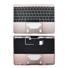 New Top Case/Keyboard - Rose Gold - 2016 12 For MacBook for macbook 12 a1534 switzerland swiss keyboard w topcase 2015 2016 2017 years gold gray grey silver rose gold color