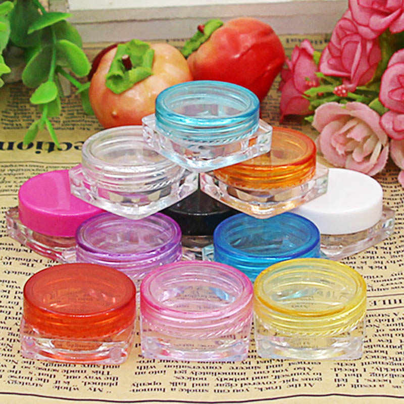 10pcs Small Cosmetic Face Cream Storage Box Transparent Eyeshadow Sample Container Hot Sale