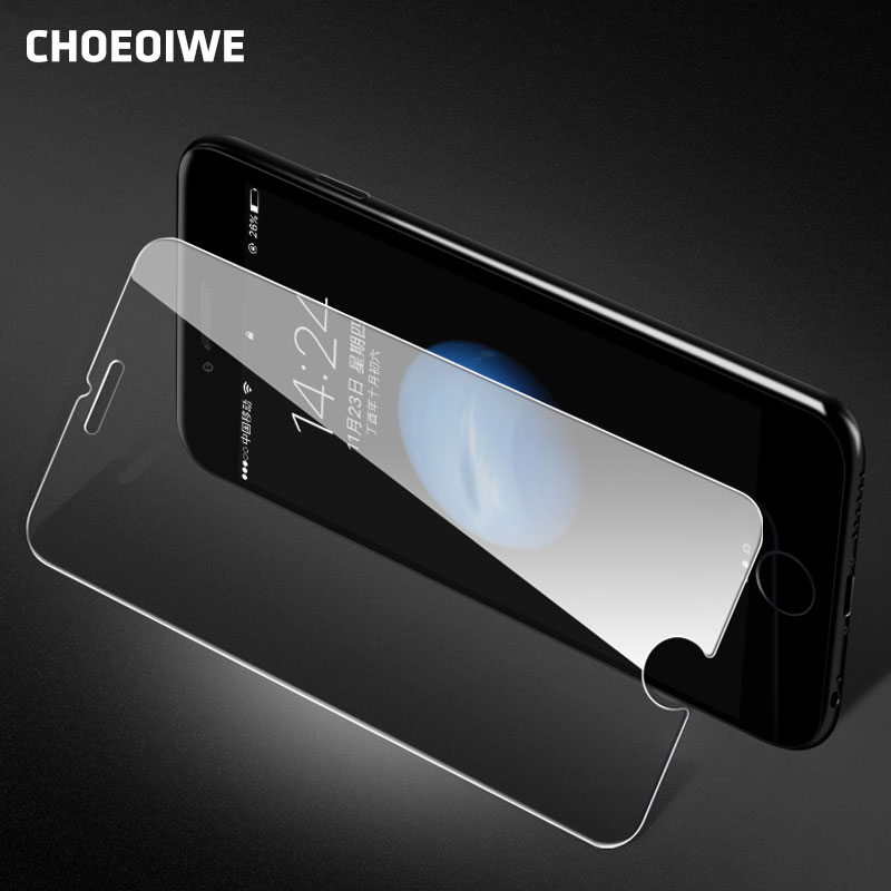 CHOEOIWE 9H 2.5D Front Tempered Glass For IPhone 5 5S SE 5C 6 6S Plus 7 Plus 4 4S Screen Protectors Phone Glasses Film