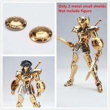 Saint seiya pano mito 2 metal pequenos escudos para bandai oce libra ex ouro dohko shiryu s008