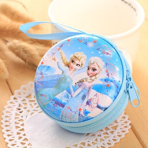 Лидер продаж, кошелек для монет с героями мультфильмов, Эльза, Анна, принцесса, чехол для ключей для девочек, кошелек, детский Снежная королева, гарнитура, сумка для монет - Цвет: D