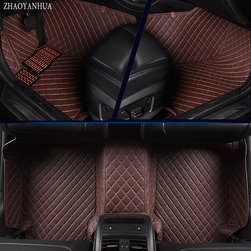ZHAOYANHUA Car floor mats for Volkswagen Beetle CC Eos Golf Jetta Tiguan Touareg sharan 5D car-styling carpet floor liner car seat cushion three piece for volkswagen passat b5 b6 b7 polo 4 5 6 7 golf tiguan jetta touareg beetle gran auto accessories