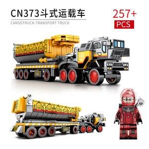 Image 4 - Sembo técnica cidade transportadora veículo caminhão a terra errante carro astronauta brinquedo conjuntos de construção tijolo cidade compatível crianças brinquedos
