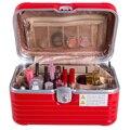 Las mujeres de Gran Capacidad ABS Tronco Maleta De Aluminio Profesional del Maquillaje del Organizador Cosmético Caja de Almacenamiento de Bolsa de Mano Bolso de Mujer