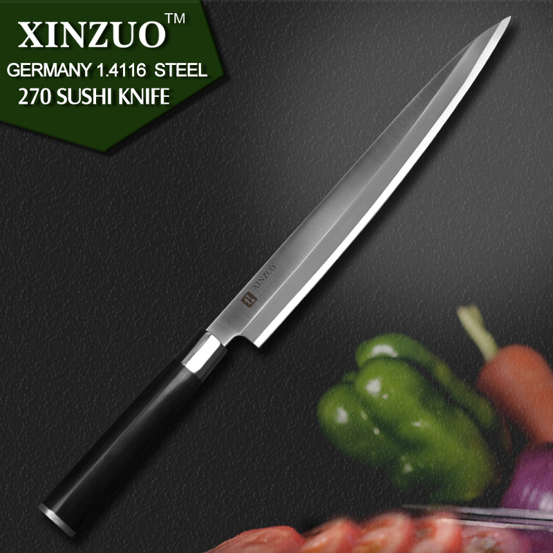 XINZUO 10 5 inch sashimi font b knife b font with Scabbard Germany steel Willow kitchen