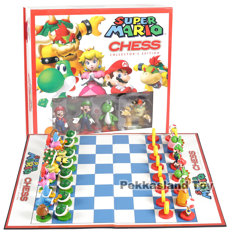 Super Mario Brothers Chess Collector's Edition PVC Figures Model Toys 32-pack