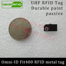 Omni-ID Fit 400 860-960MHZ UHF RFID metal tag 915M EPC C1G2 ISO18000-6C Fit400 metal hand tools and Metal IT assets tracking
