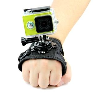 Image 5 - Banda para la muñeca del guante rotación giratoria de 360 grados correa de mano soporte para trípode para GoPro Hero 8/7/6/5/4/3 + para Go Pro SJCAM GP127L