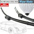 Frete Grátis! 1 par automotivo windshield wiper blade lâminas carro limpador de borracha macia para vw volkswagen jetta 6 2012-2016