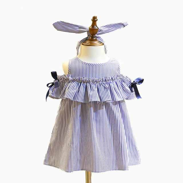 الفتيات اللباس الاطفال فتيات صغيرات يتدربن على المشي مخطط القوس الدانتيل الرقبة اللباس الأميرة زي الملابس حزب توتو اللباس 2-7Y
