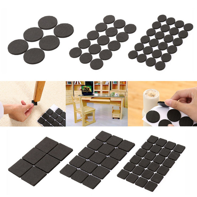 Fashion Antiskid Table Mats Non Slip Adhesive Soft Furniture Feet Wearproof Felt Pads Chair Floor Anti Slip