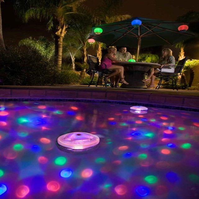 5 lighting Modes Amazing light Disco Glow Show Pond Pool LED light SPA Swimming Pool lamp Floating bulb Child Bath Tub-Colorful