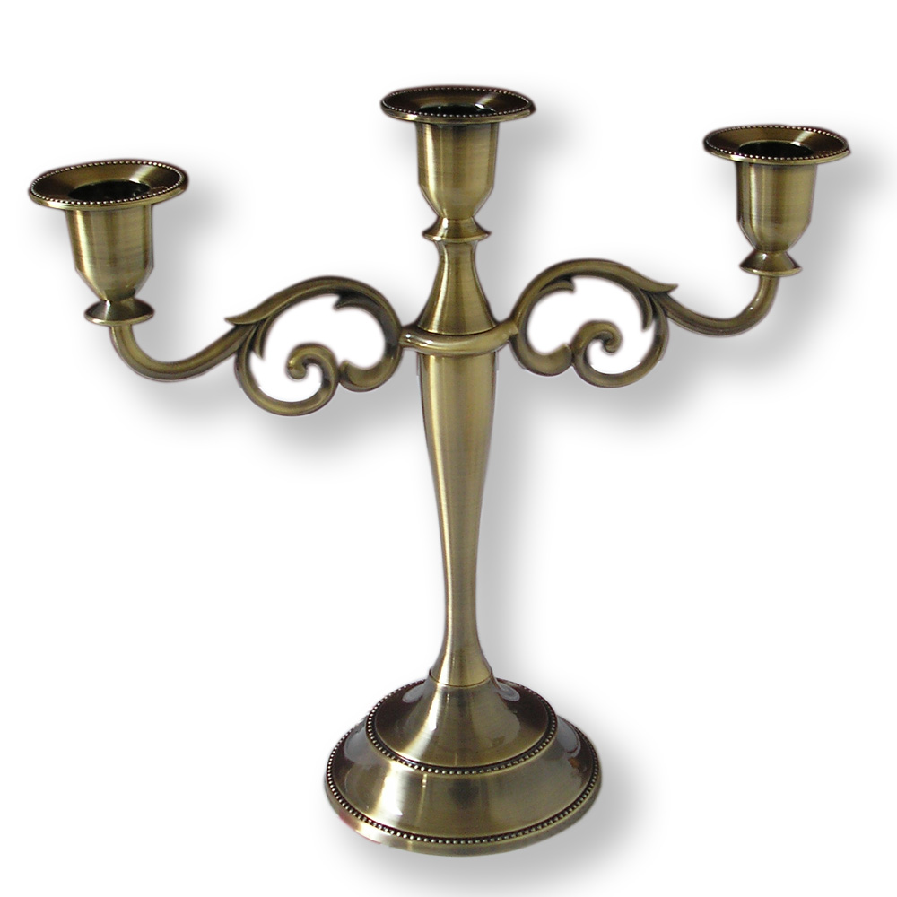 vintage antique metal candle holder candlestick stand home decoration bronze b003 in candle. Black Bedroom Furniture Sets. Home Design Ideas