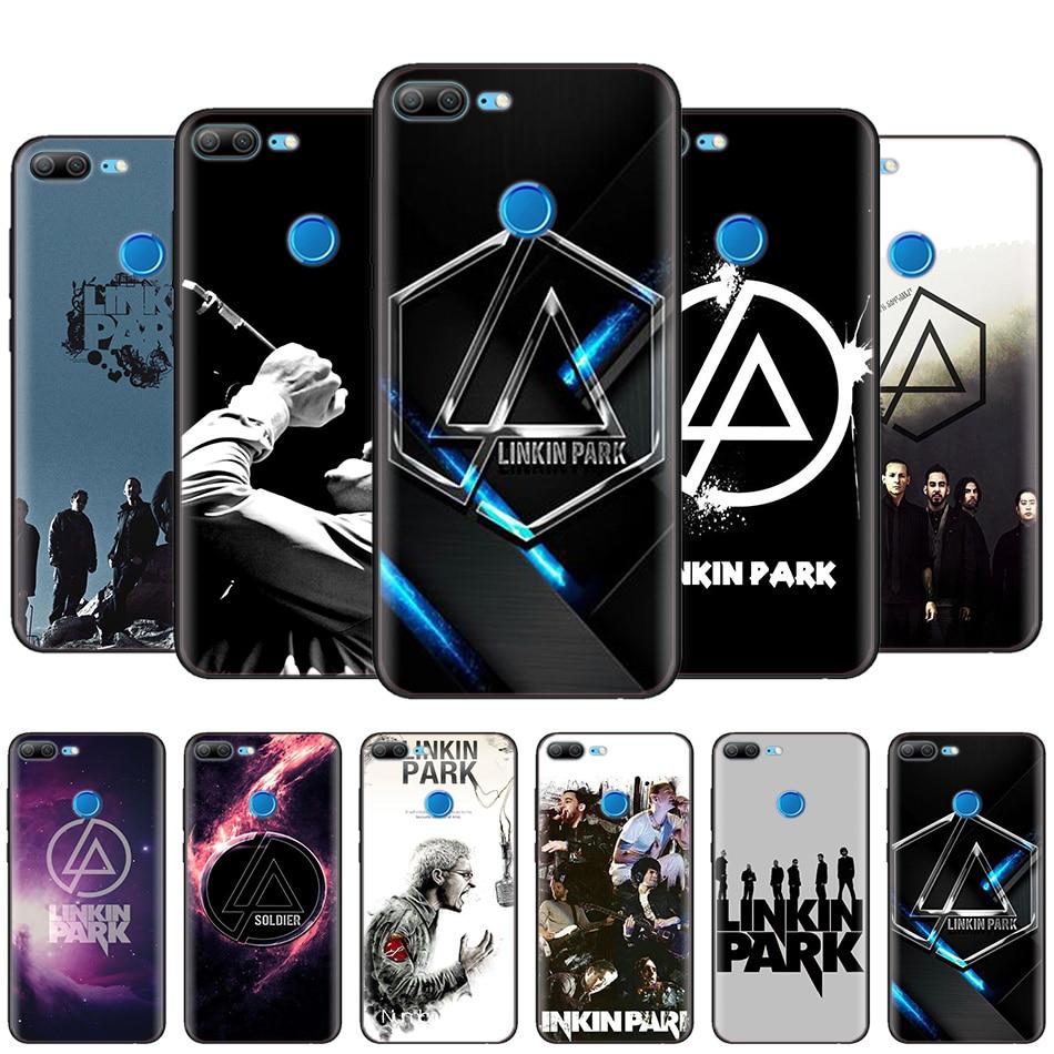 Black Silicone Case Bag Cover for Huawei Honor 10i Y7 Y6 Y5 Y9 8X 8C 8S 9 10 Lite Pro 2018 2019 Enjoy 9E 9S Shell Linkin Park dispensador de cereal peru