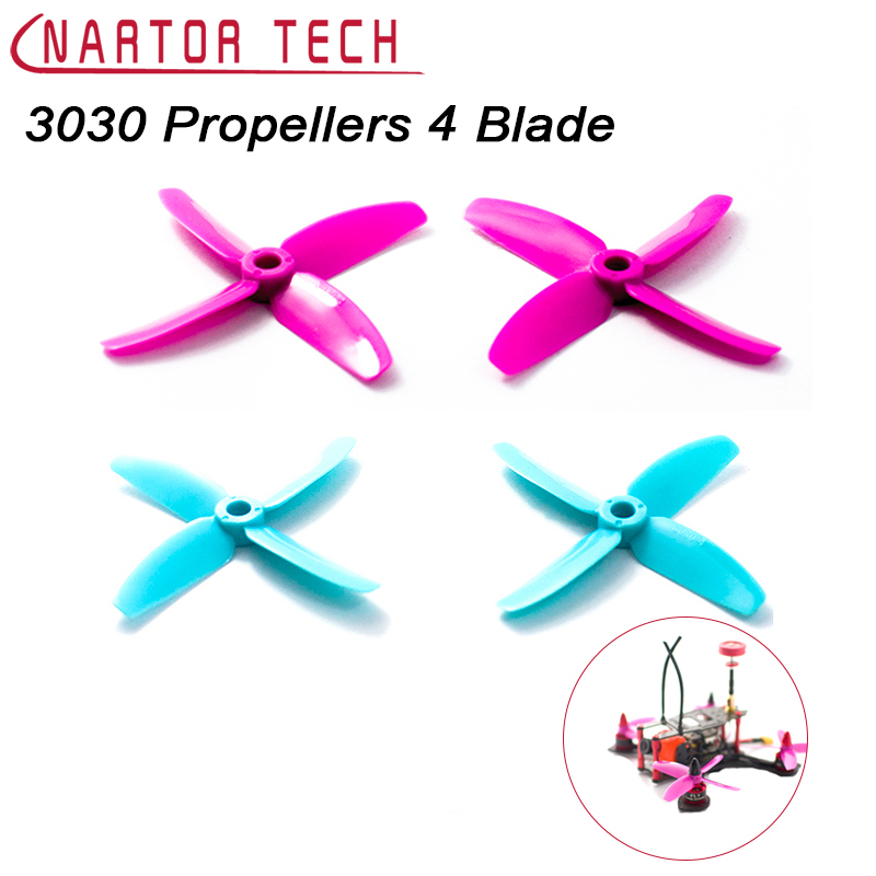 10 Pairs 3030 Propellers High-quality 4 Blade Propeller (CW/CCW) for DIY MINI Race Drones 1306 Motor Free Shipping 50 pairs 100pcs 4040 propellers high quality 4 inch 4 blade propeller cw ccw for diy mini race drones 180 qav r quadcopter