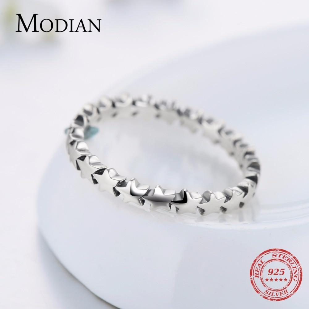 Moidan Orijinal Ulduz Real 925 sterlinq gümüş zərgərlik izi - Moda zərgərlik - Fotoqrafiya 5