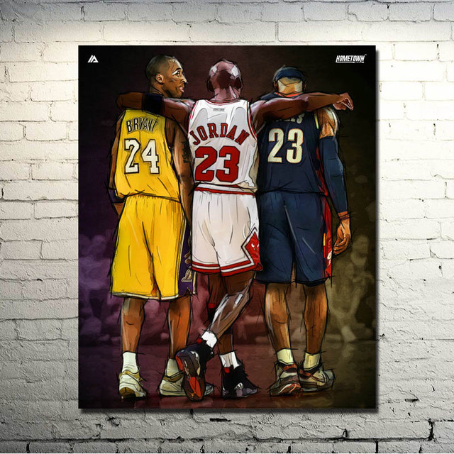Michael Jordan Kobe Bryant Lebron James Nba 24×30 Inches Sport Prictre Print Living Room