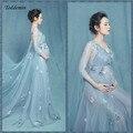2017 royal estilo lace maternidade dress grávida fotografia adereços sessão de fotos da gravidez maternidade longo dress nightdress