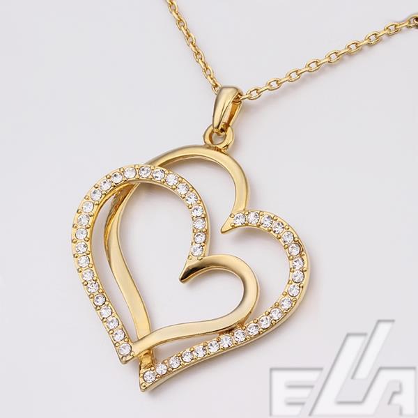 Gold heart shape pendant aloadofball Choice Image