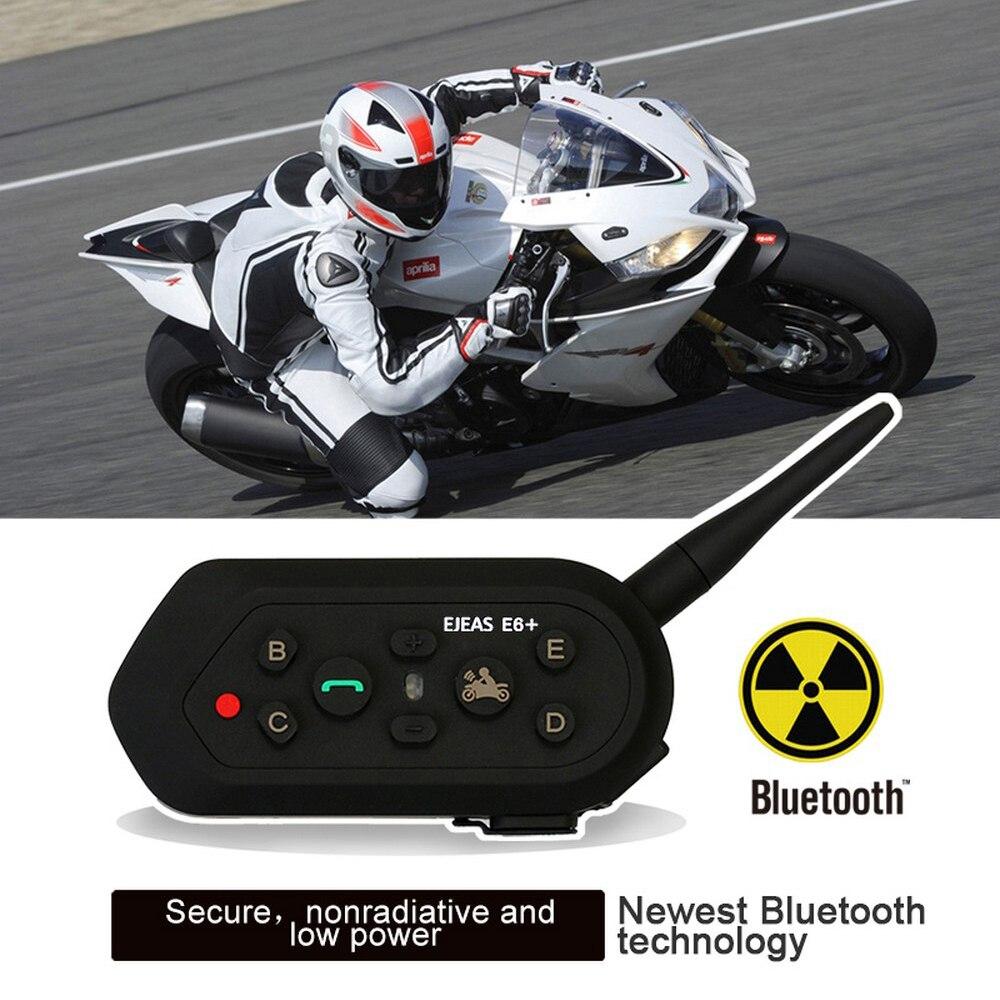 E6 Plus Motorcycle Helmet Walkie-talkie Wireless Remote Control Bluetooth Headset Waterproof