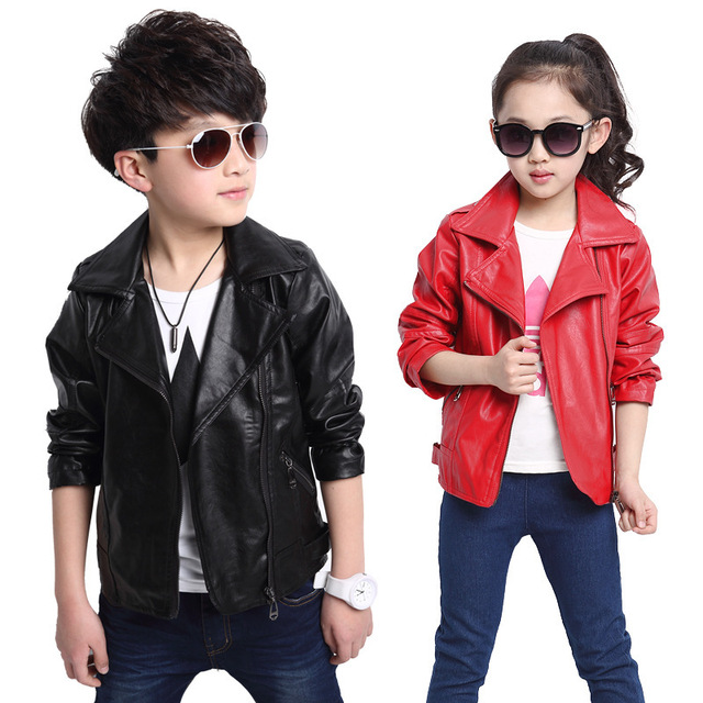 e13382cdc UNIKIDS 2016 New Baby Boys Leather Jacket Kids Girls and Coats ...