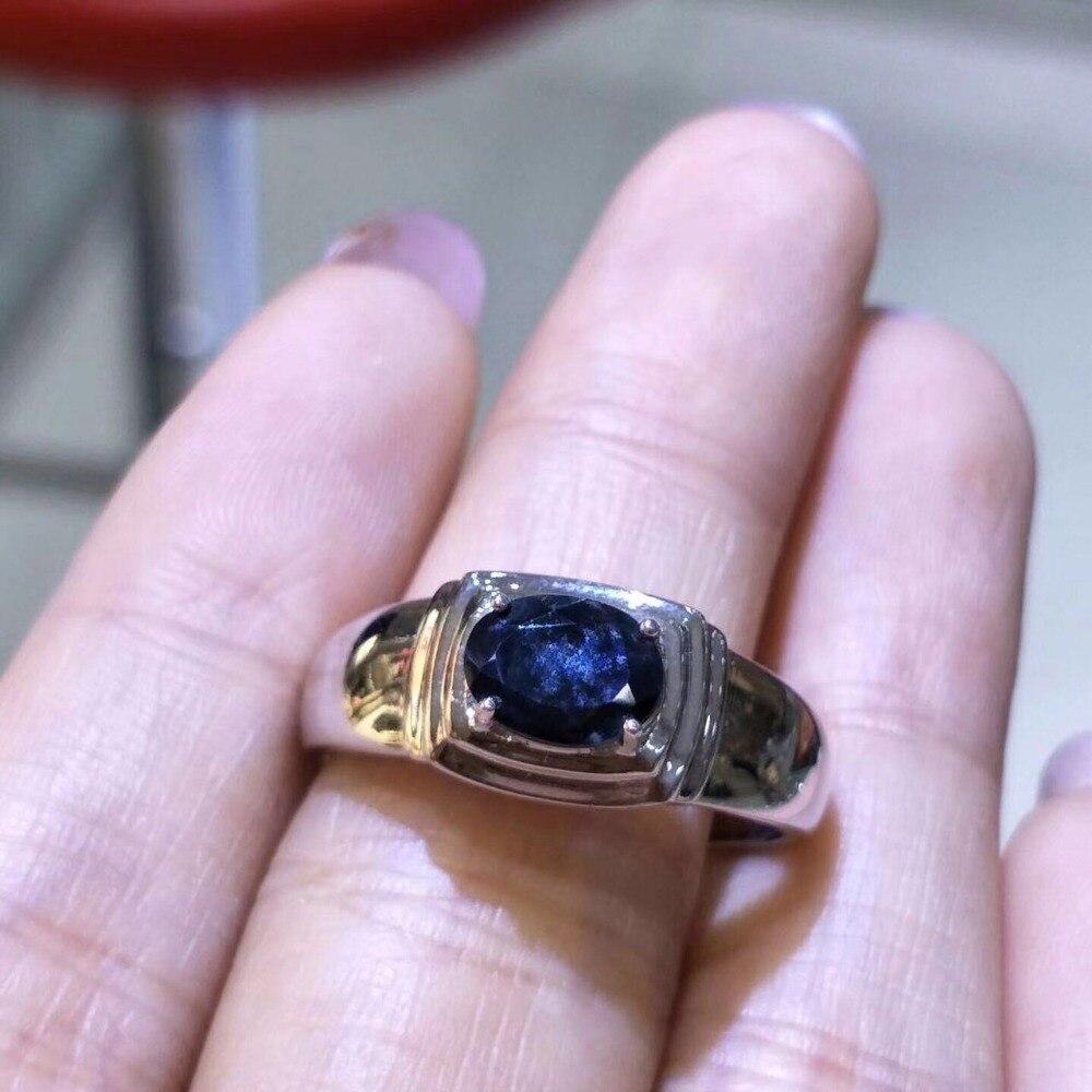 사파이어 반지 라운드 컷 블루 보석 9 월 탄생석 925 스털링 실버 가격-에서반지부터 쥬얼리 및 액세서리 의  그룹 1