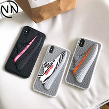 Phone Cases for iphone 6 6S 7 8 Plus Sports 3D Boost Shoes Yezzys Kanye Omari West Sply 350 Soft Cover for iphone X 10 XS XR MAX(China)
