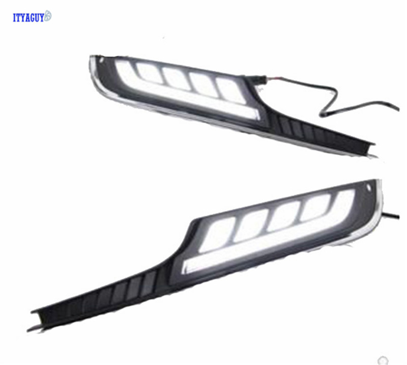 Gloss Model 12v LED Car 2PCS DRL daytime running light For VW GOLF 7 2014-2016 Bumper Front Fog lamp with dimming style Relay auto led car bumper grille drl daytime running light driving fog lamp source bulb for vw volkswagen golf mk4 1997 2006 2pcs
