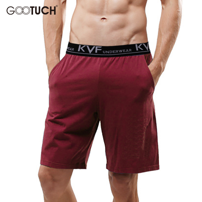 Gootuch Summer Mens Cotton Sleep Bottoms Pajama Plus Size Lounge Pants Short Casual